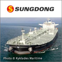 Sungdong Shipyard, 115k dwt Aframax tankers for Kyklades Maritime